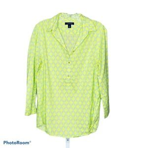 Lands' End Women's Yellow Collared Tunic Top 8